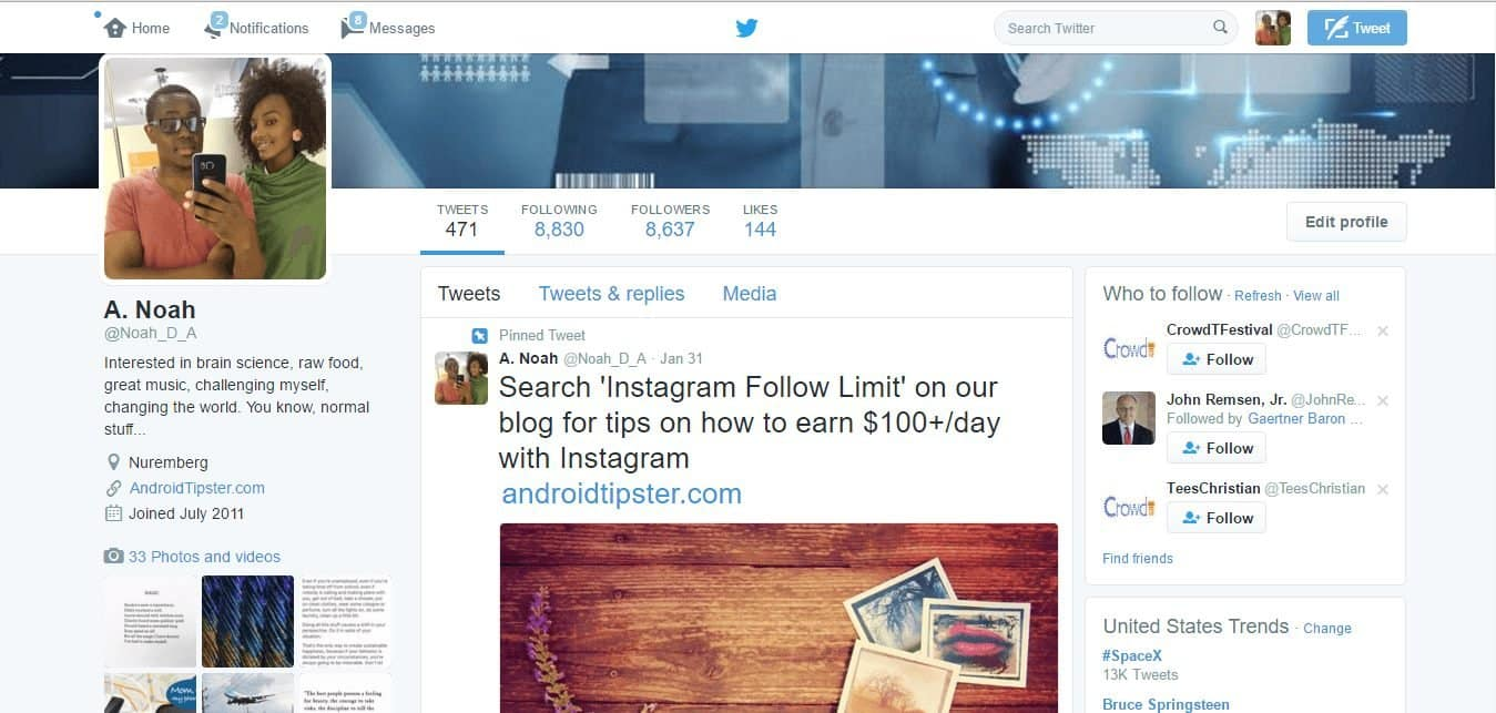 How my twitter following exploded from 2-8k on autopilot in