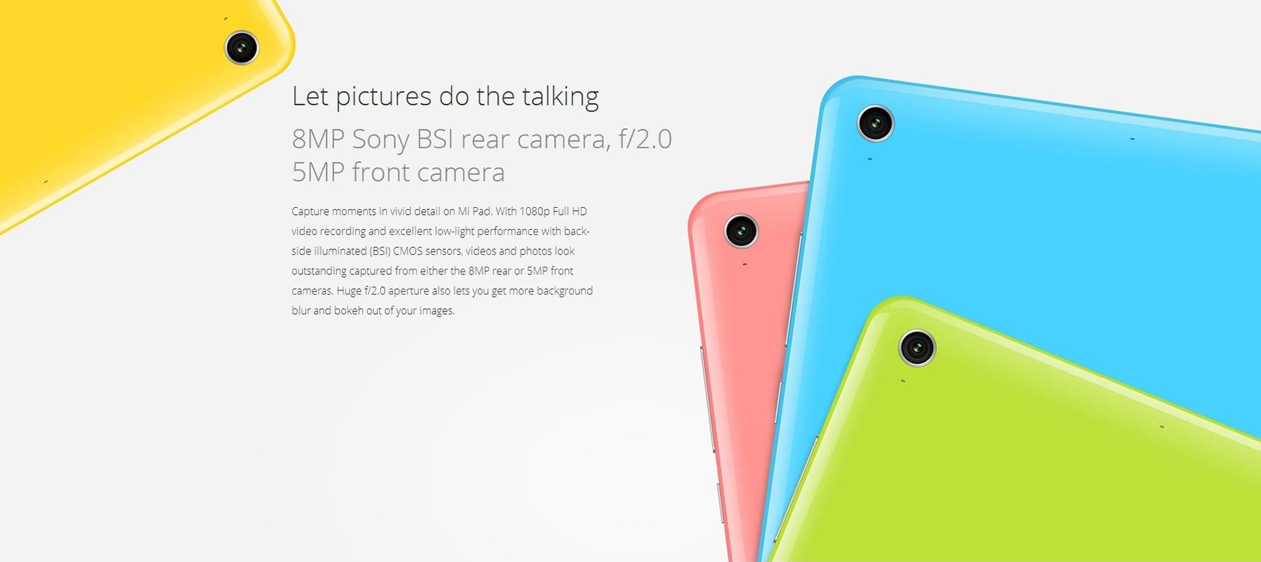 XiaoMi Mi Pad 64GB camera
