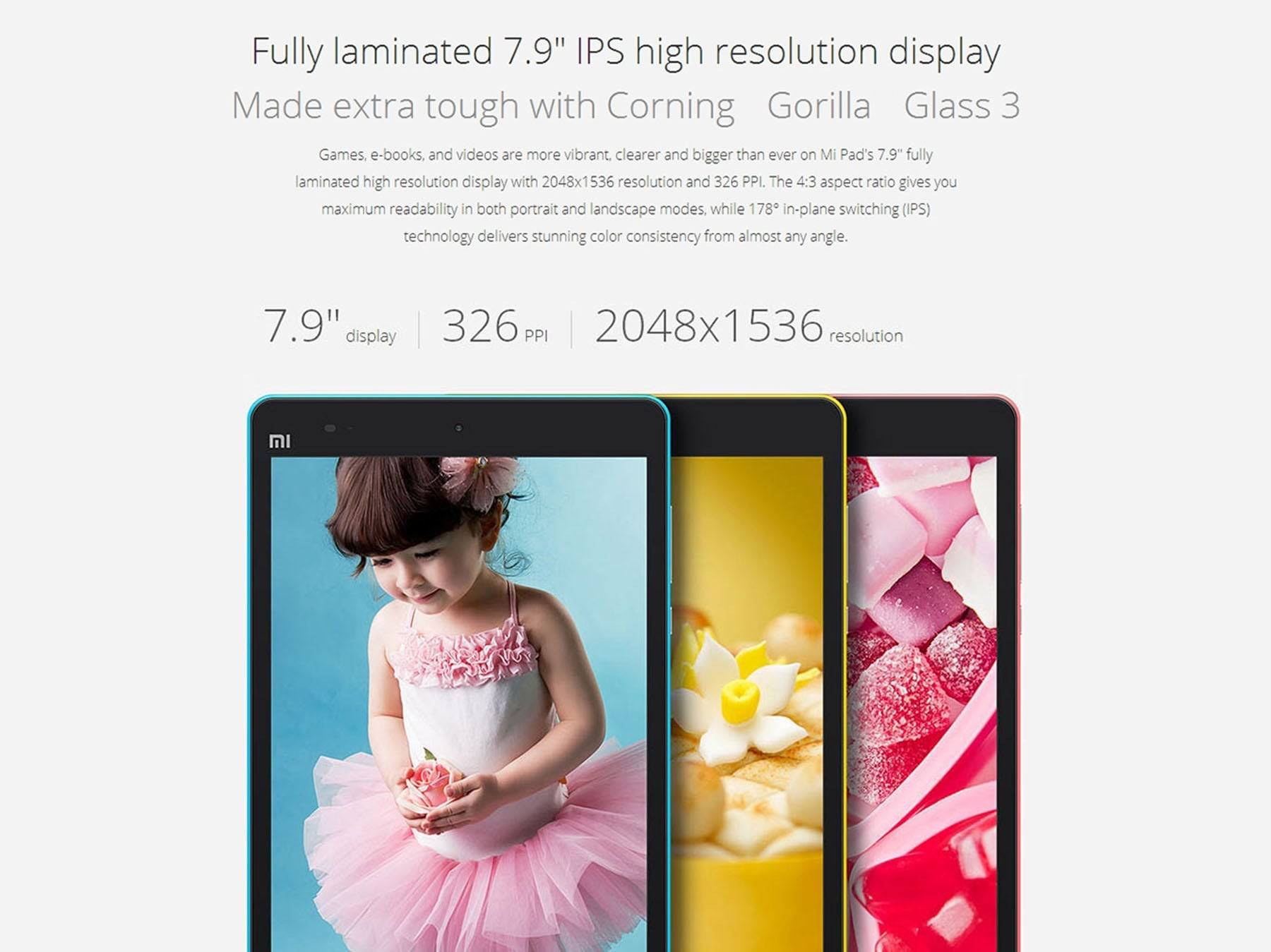 XiaoMi Mi Pad 64GB display