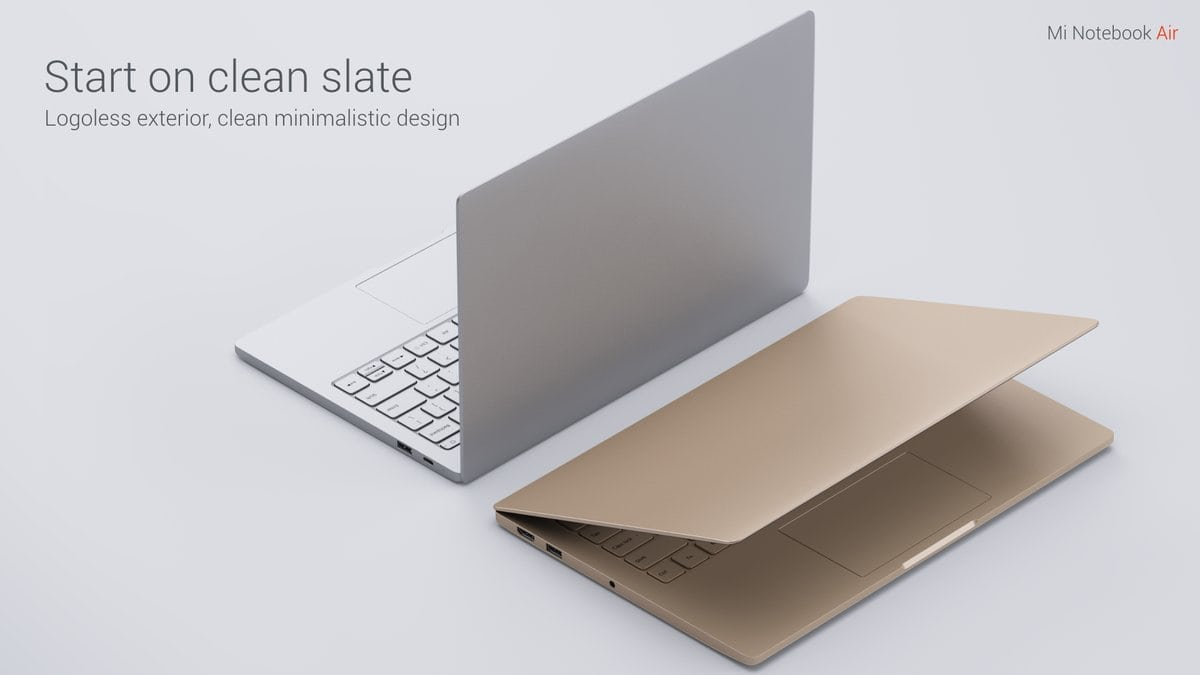 Xiaomi Air 13 Laptop design