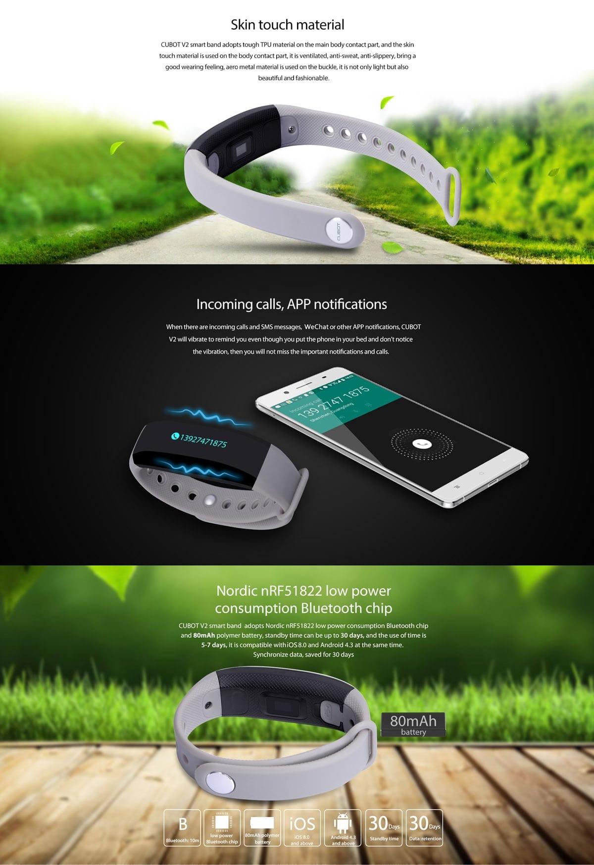 cubot v2 smart wrist band