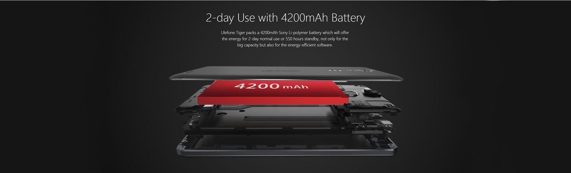 Ulefone Tiger battery