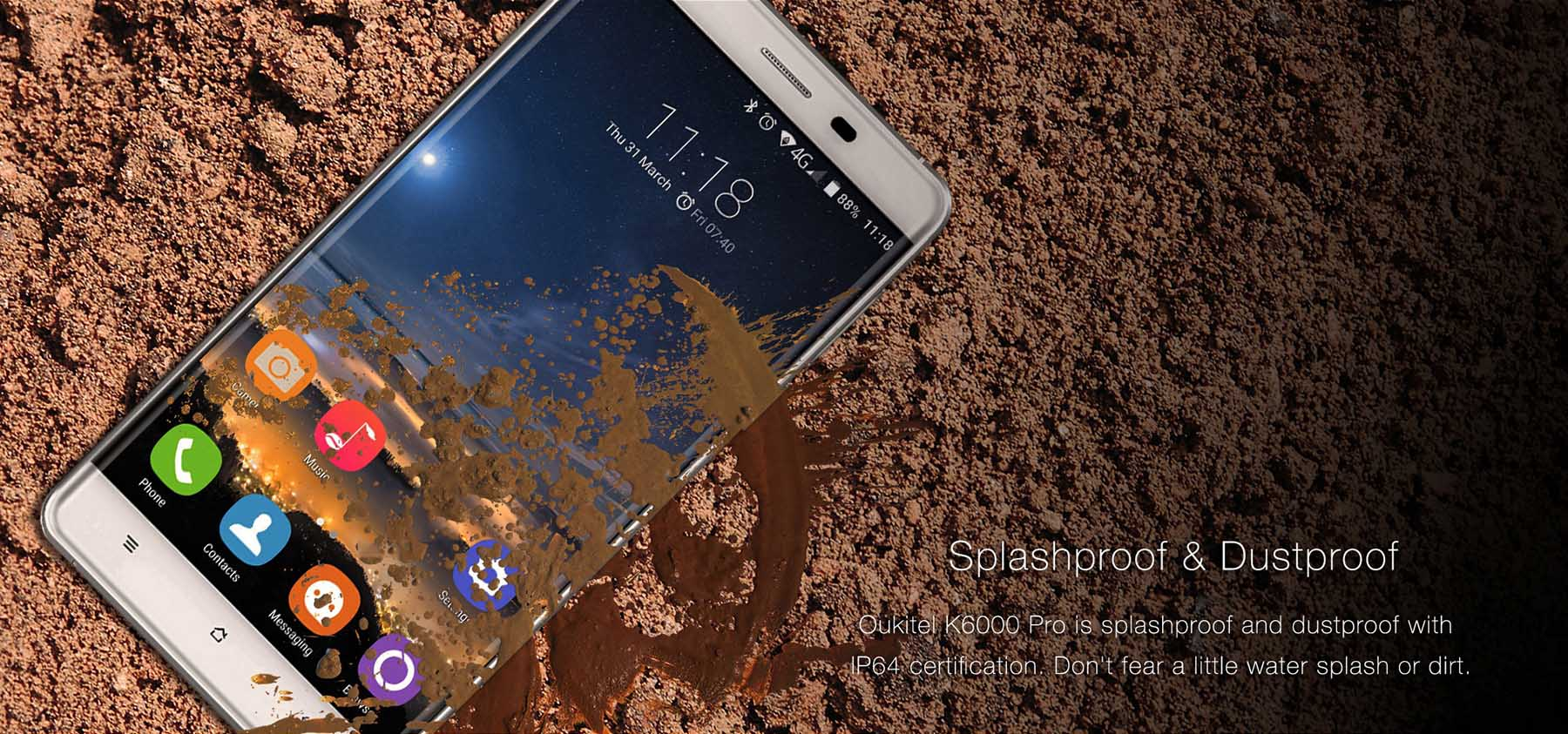 best android smartphone oukitel k6000 pro