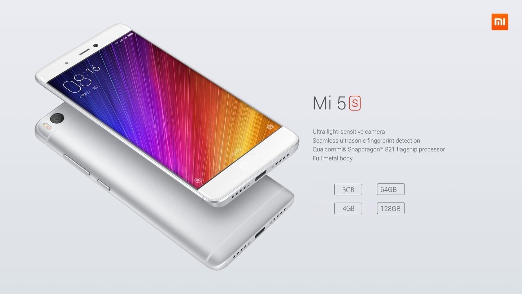 best android smartphone xiaomi mi5s