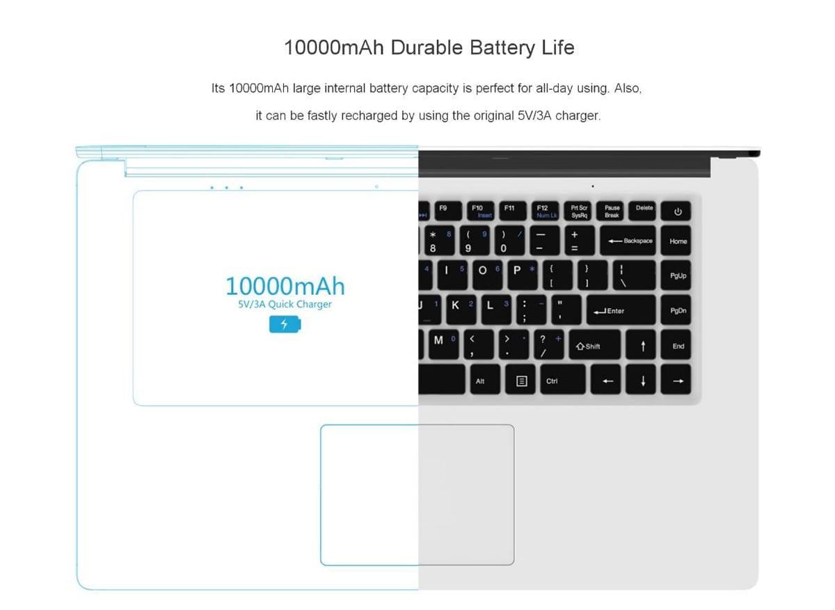 CHUWI LapBook Battery Life