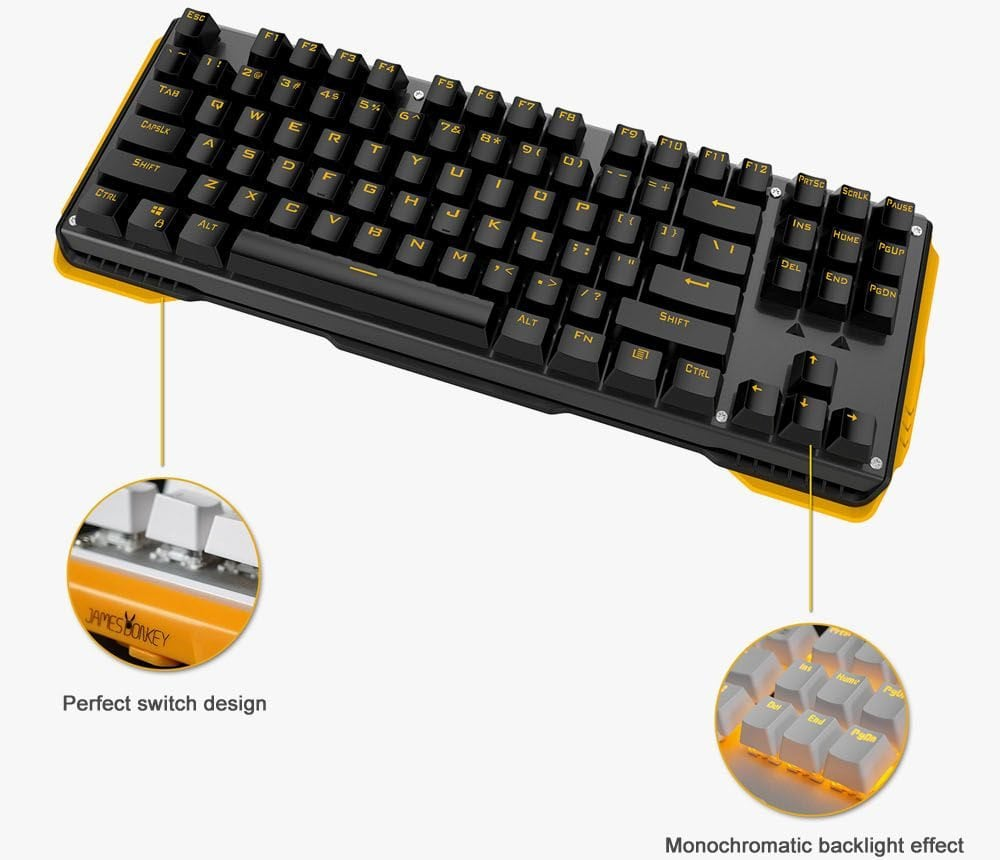 jamesdonkey 619 mechanical keyboard gaming