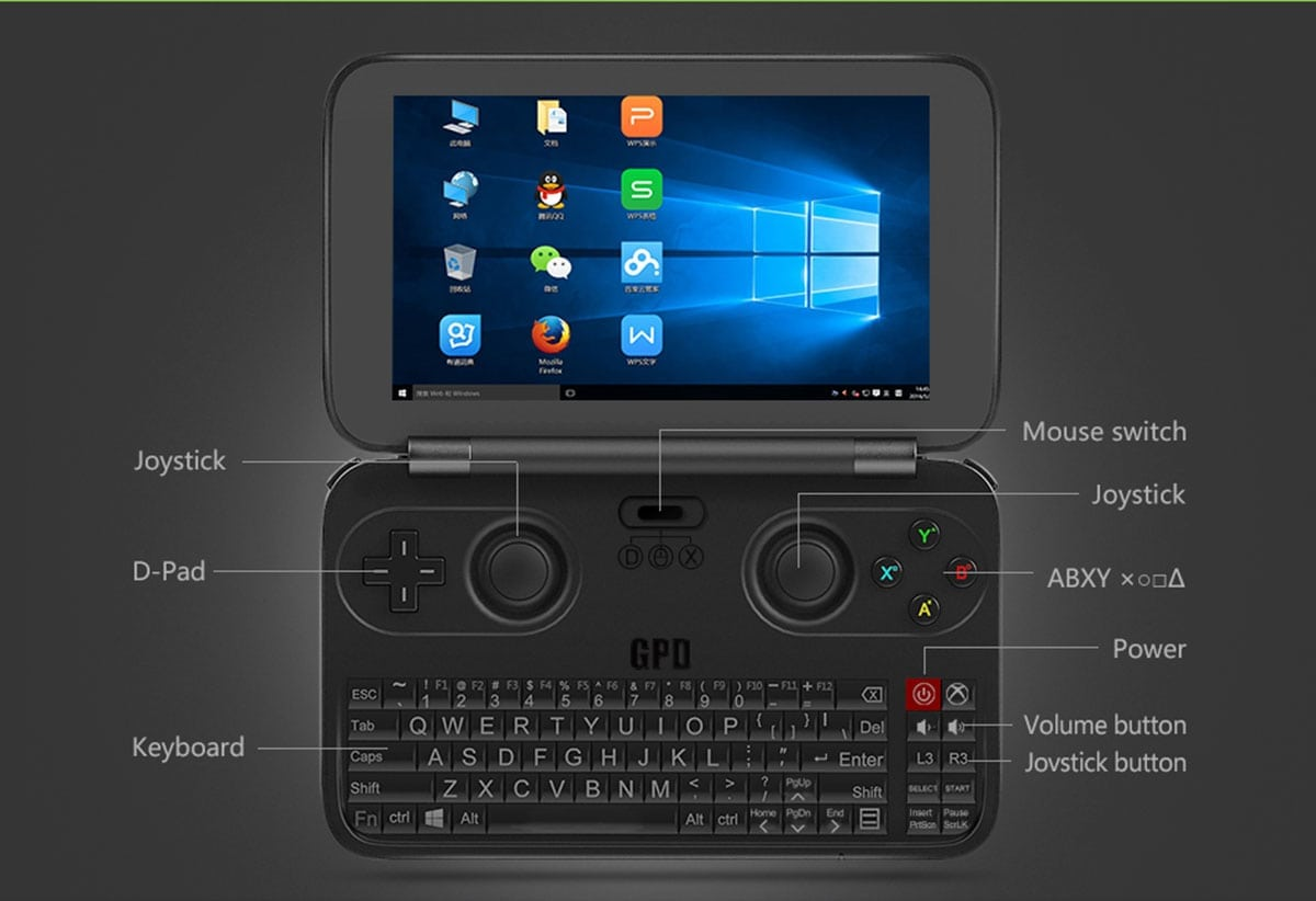 gpd win gamepad tablet pc review a portable gaming. Black Bedroom Furniture Sets. Home Design Ideas
