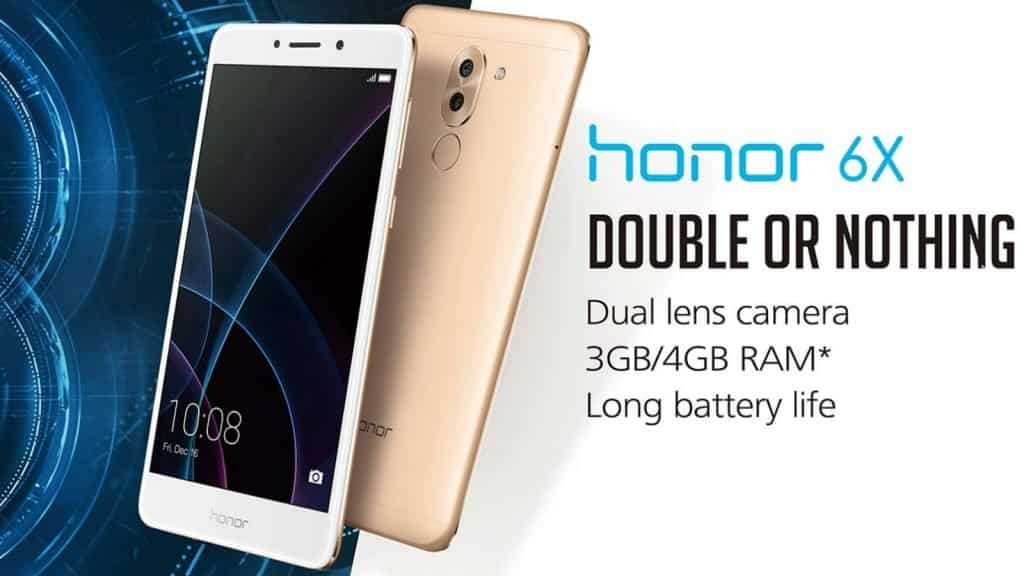 """The Honor 6X occupies the #3 position in our list of """"Top Budget Smartphones 2017"""""""