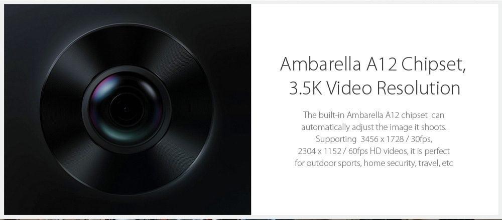 Xiaomi Mijia 3.5K Panorama features Ambarella A12 chipset
