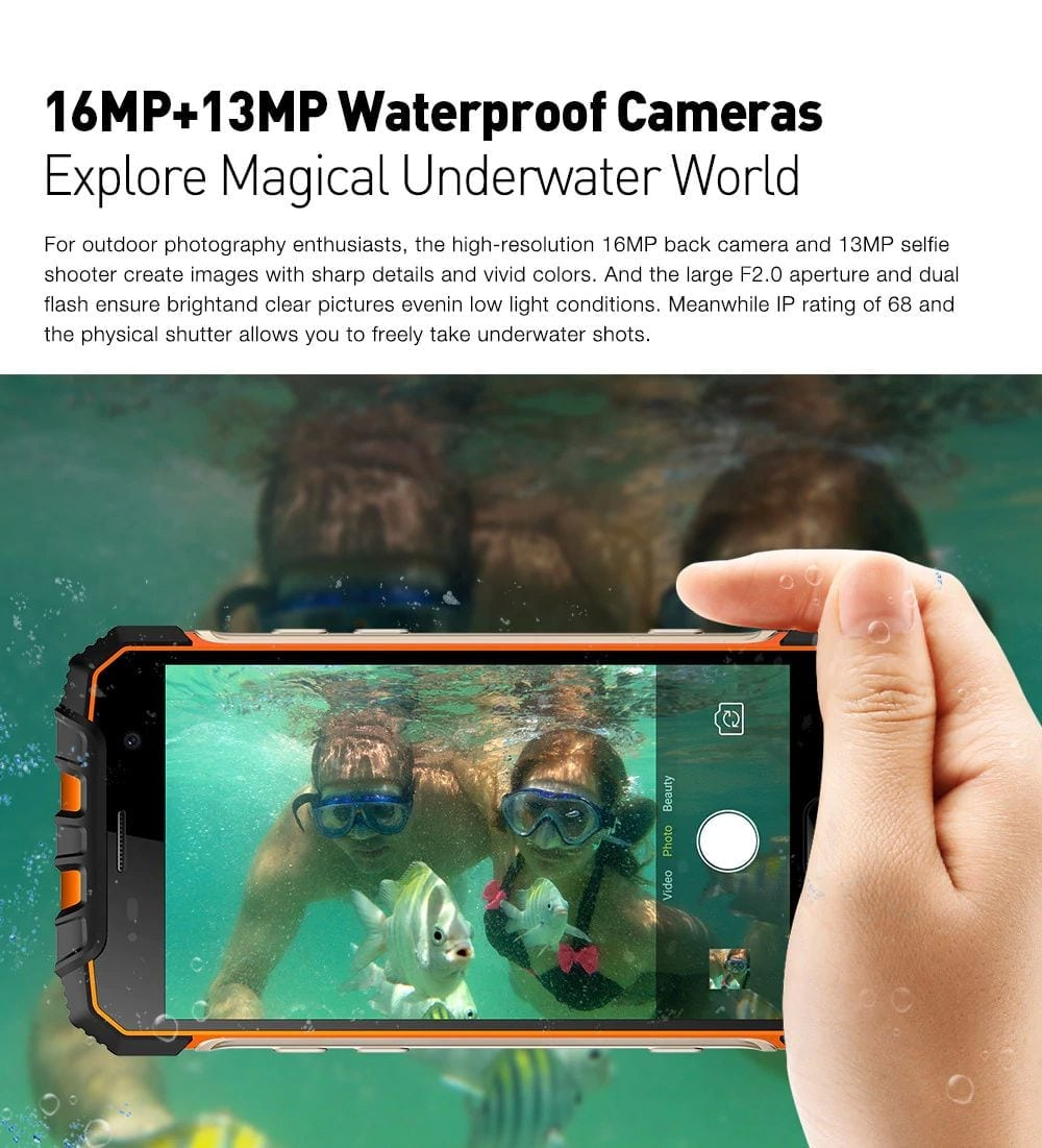 most durable smartphone ulefone armor 2 underwater