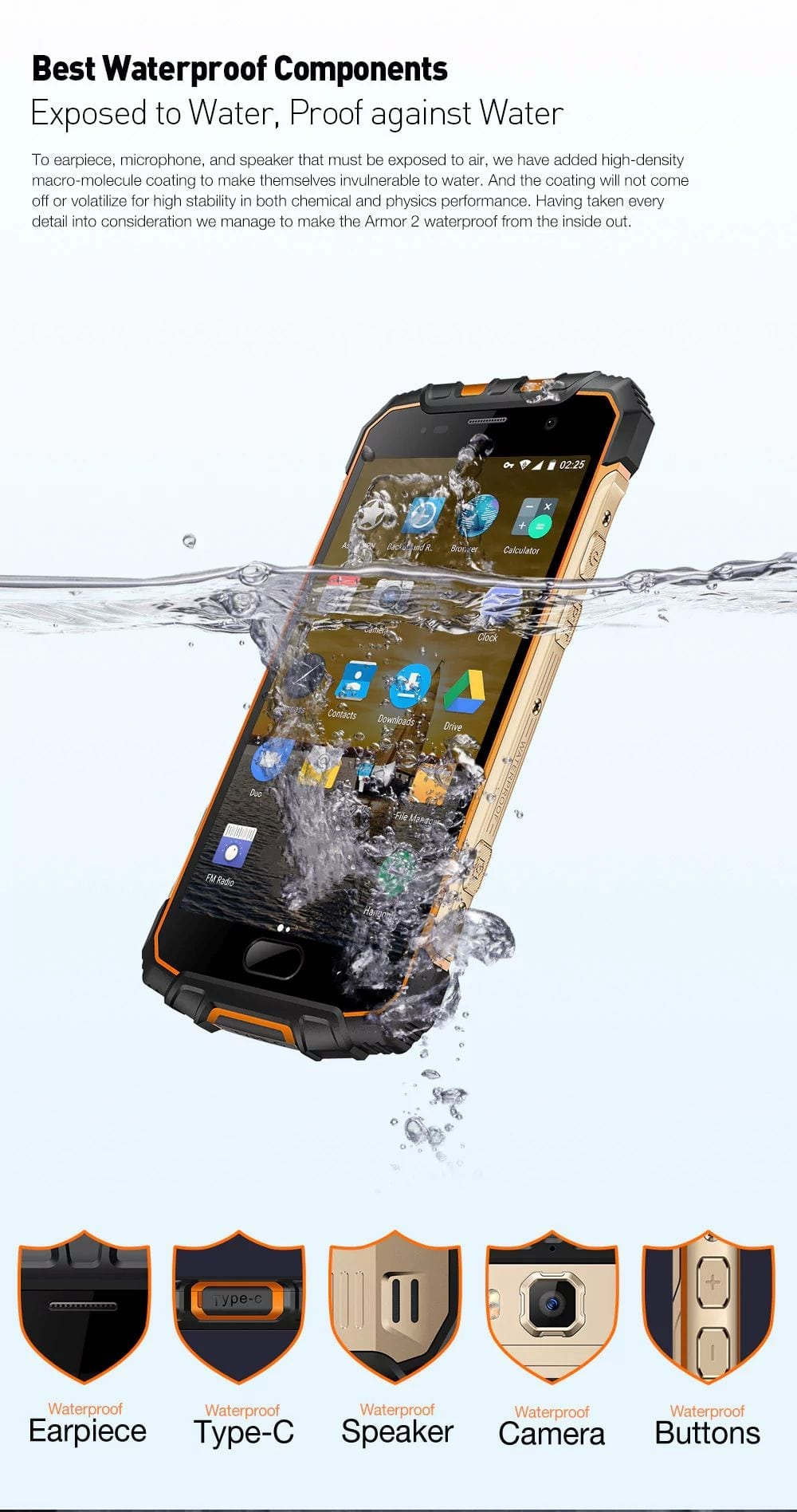 most durable smartphone ulefone armor 2 waterpfroof review