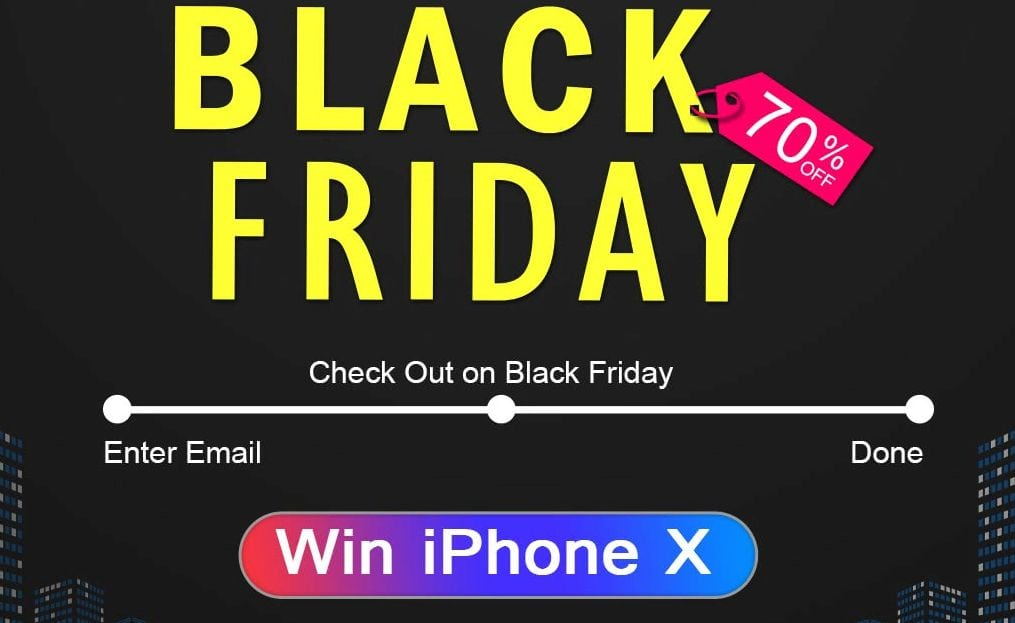 black friday win iphone x dodocool