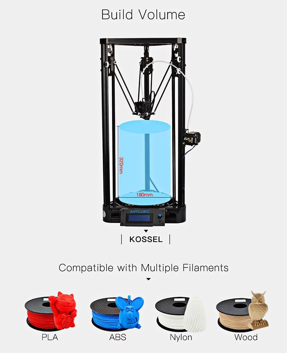 AnyCubic Kossel Features