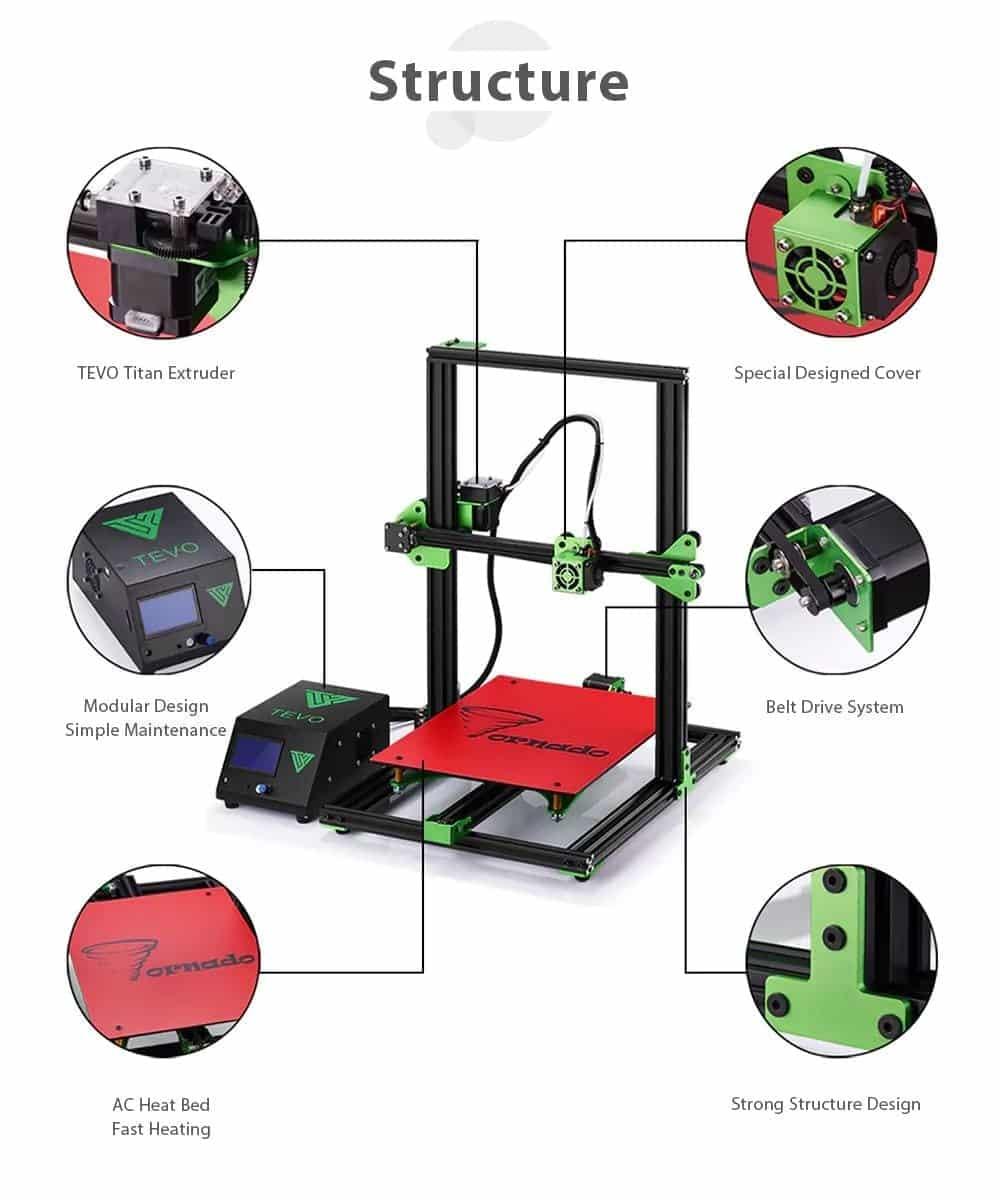 Tevo Tornado 3D Printer Design Review