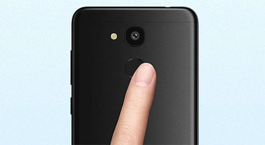 Vernee M5 Review fingerprint