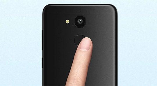 Vernee M5 Review fingerprint