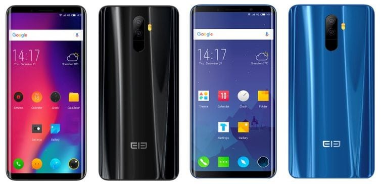 elephone u pro black and blue review