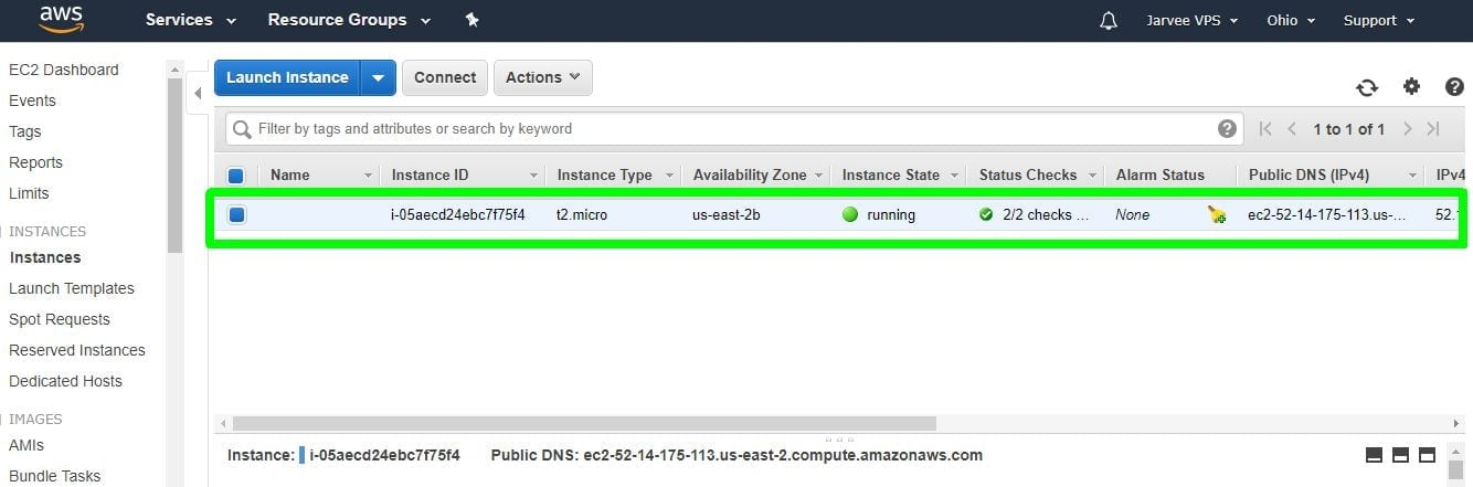 instance is ready vps