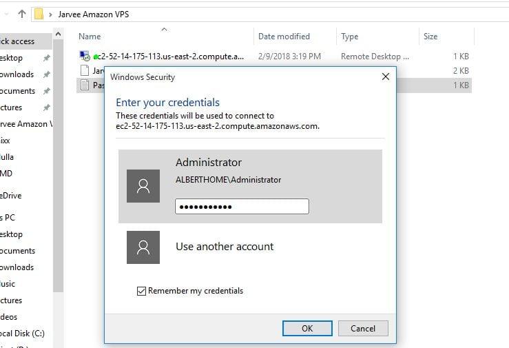 log into vps windows