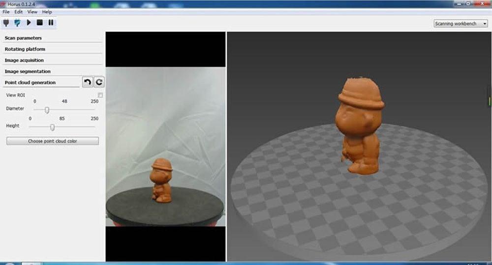 Ciclop Desktop Laser 3D Scanner functions review