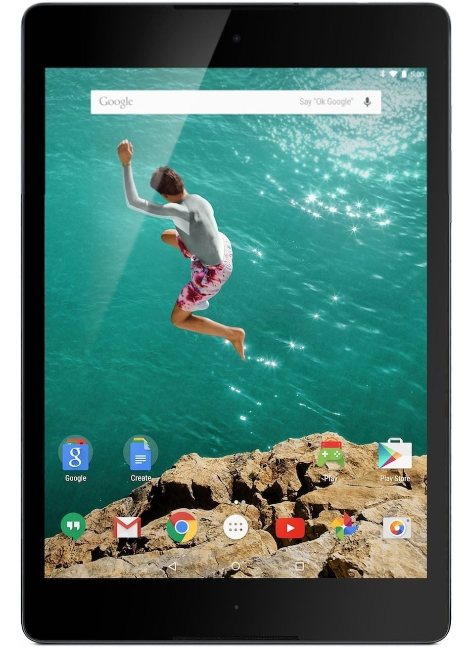 Google Nexus 9 Best Android Tablet with GPS