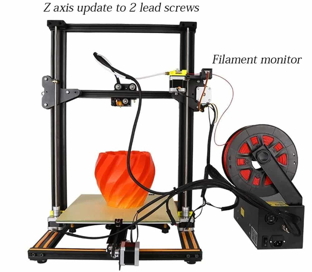 best 3d printer under 500 cr-10s review setup