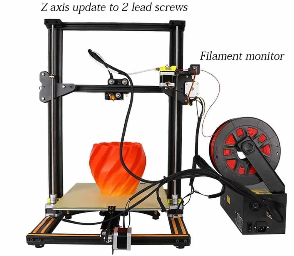 best 3d printer under 500 cr-10s review setup