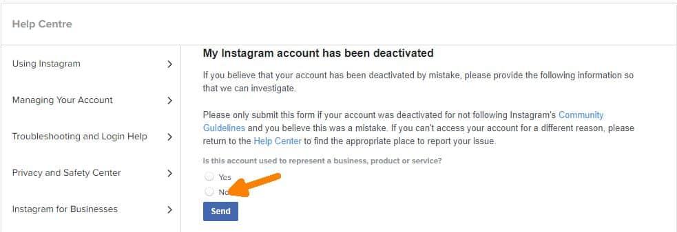My Instagram account has been deactivated