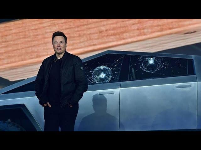 Tesla Cybertruck windows meant to break