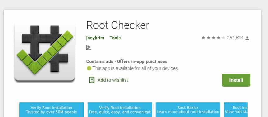 Root checker app Nexus 5